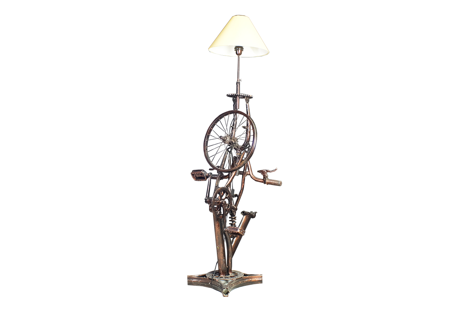 Upcycle Bicycle Lamp